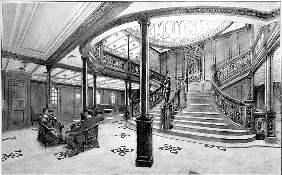 See: http://en.wikipedia.org/wiki/File:Titanic_Grand_Staircase.jpg
