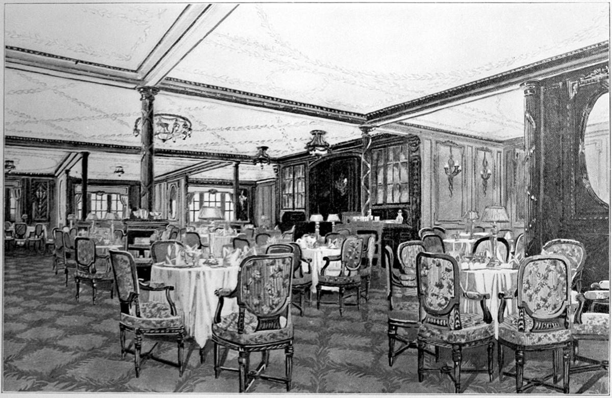 See: http://en.wikipedia.org/wiki/File:Titanic_A_La_Carte_restaurant.jpg