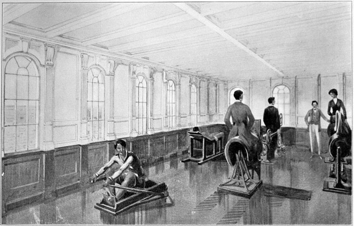See: http://en.wikipedia.org/wiki/File:Titanic_gymnasium.jpg