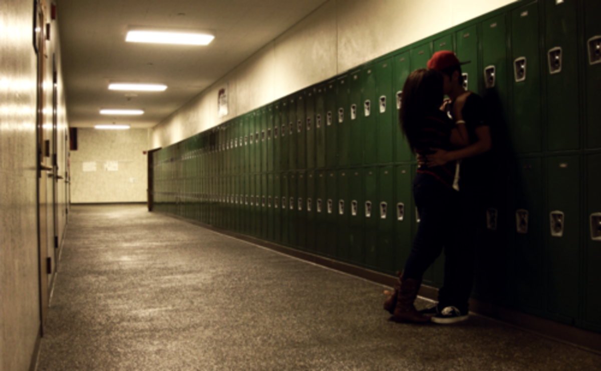 For most teenage girls, making out at high school isn't really romantic at all. It is sometimes about rebellion, and often just an attempt to try and fit in. Most women look back at their teenage relationships with regret. Sad, but true.