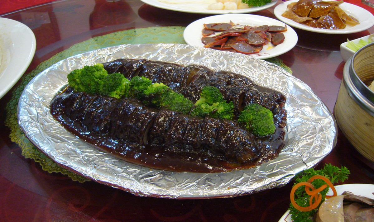 Cooked sea cucumber