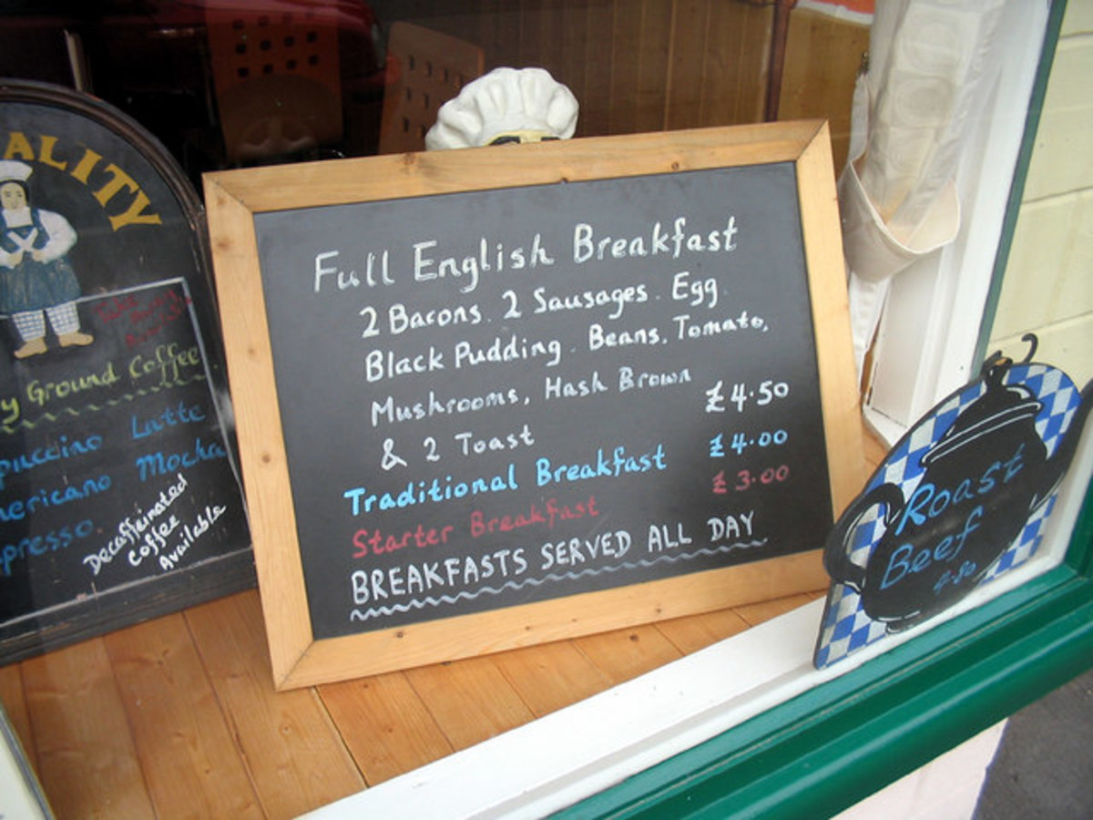 A full English is usually good value for money