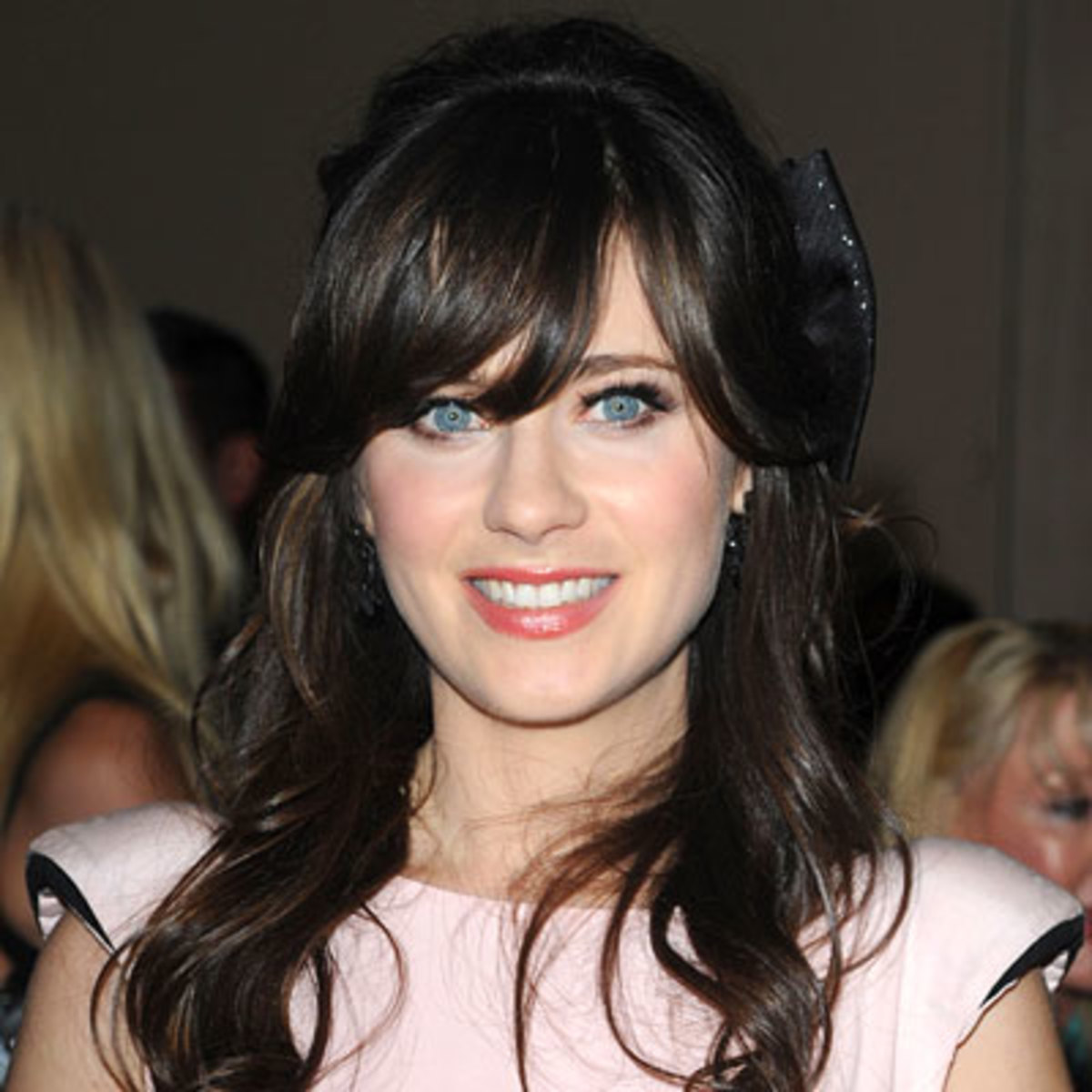 Zooey Deschanel with dark hair