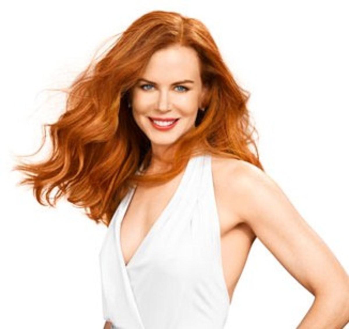 Nicole Kidman with auburn hair