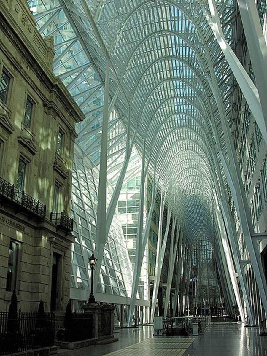 Allen Lambert Galleria at Brookfield Place in Toronto, Canada.