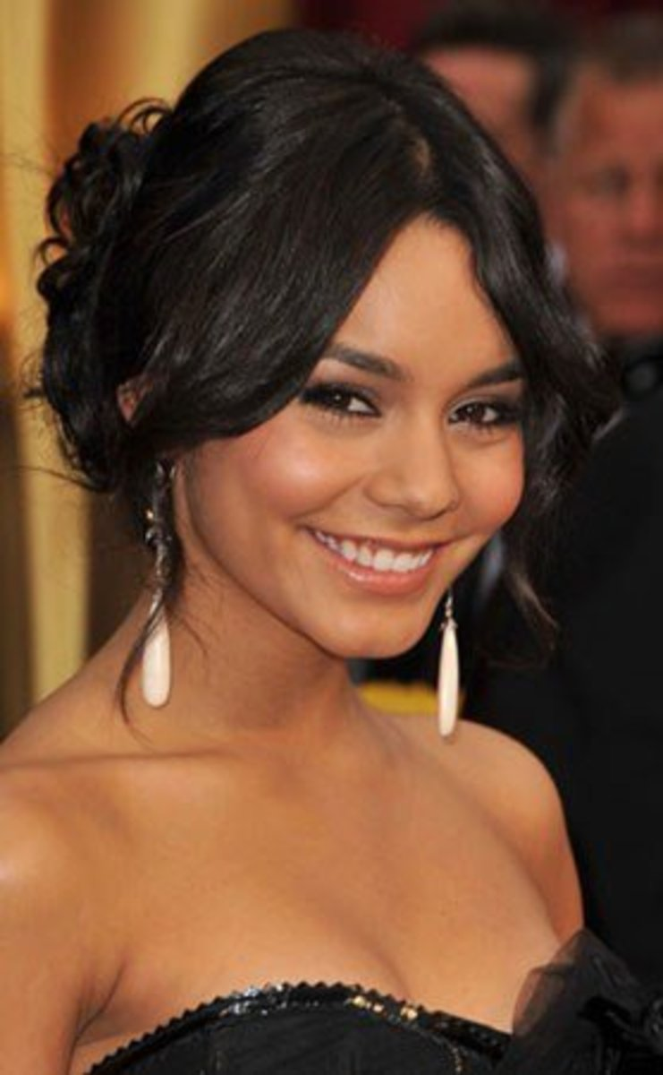 Vanessa Hudgens in Makeup for Black Hair, Tan Skin, and Brown Eyes