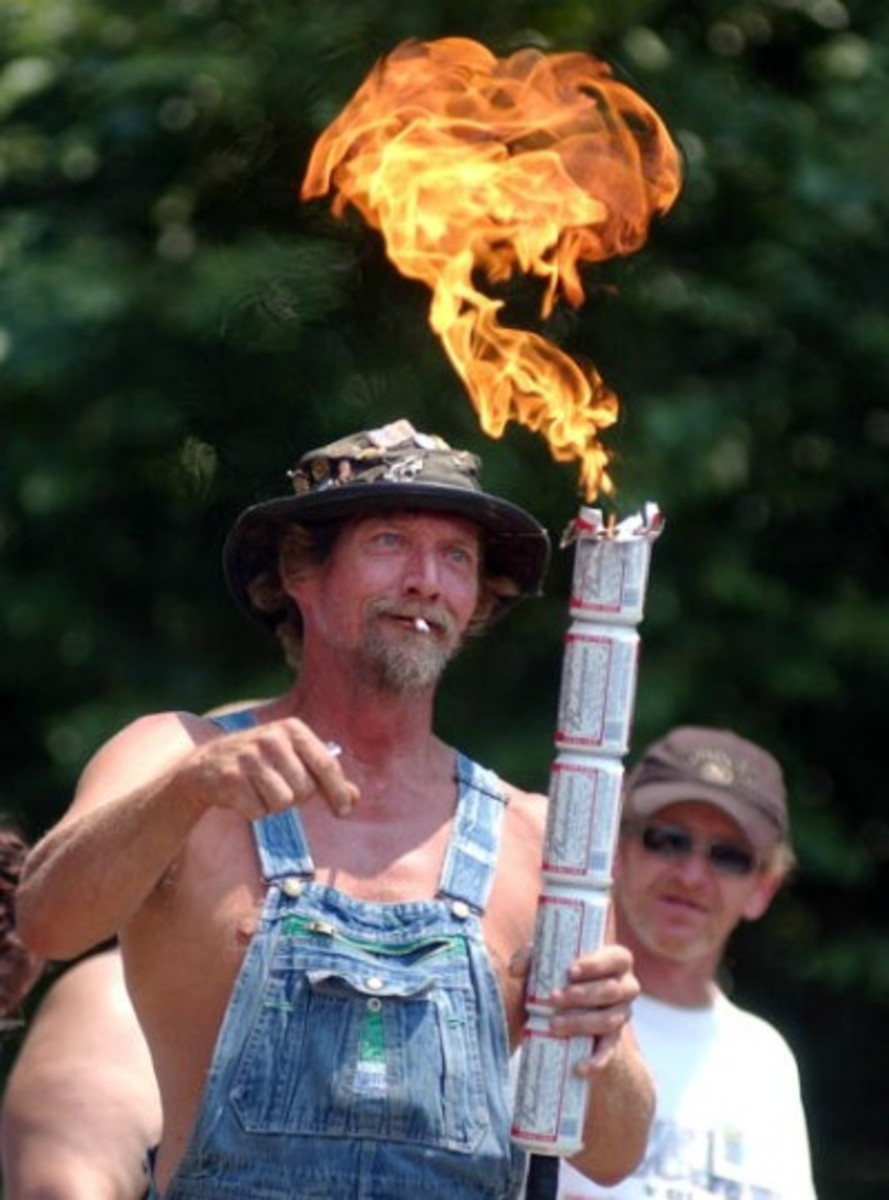 "as serious as this guy showing off his ""redneck blow-torch."" It was that serious with me in the ring with a microphone in Saltillo, Mississippi."