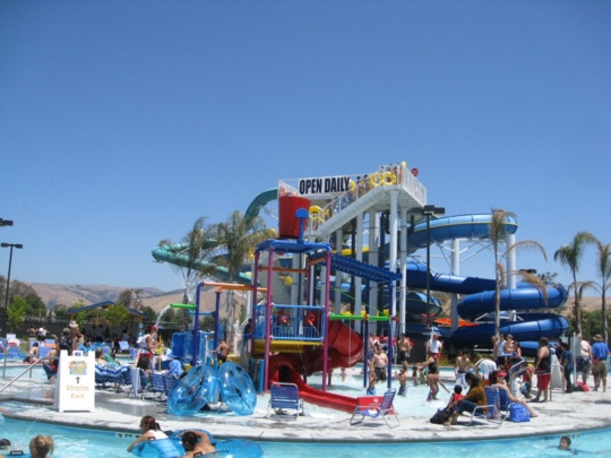 Splash zone outdoor water park in NJ