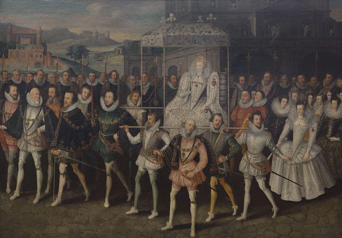 Queen Elizabeth and her Entourage.