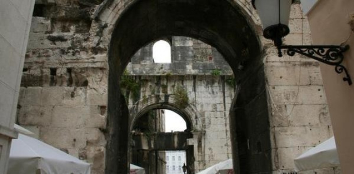 The Iron Gate of the Diocletian's Palace in Split, Croatia