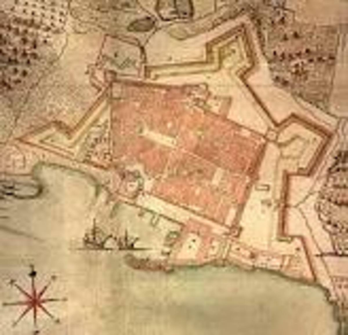 How the city fortified itself against the Turks.  The star shaped design was used to keep the Turks out.  They came to 15 km of the city walls and camped outside the city for 111 years.