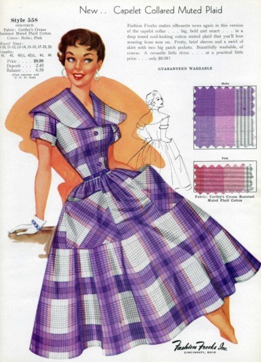 Purple plaid dress clip art courtesy of Velma's Retro Clip Art and Images.See the link below to download it.