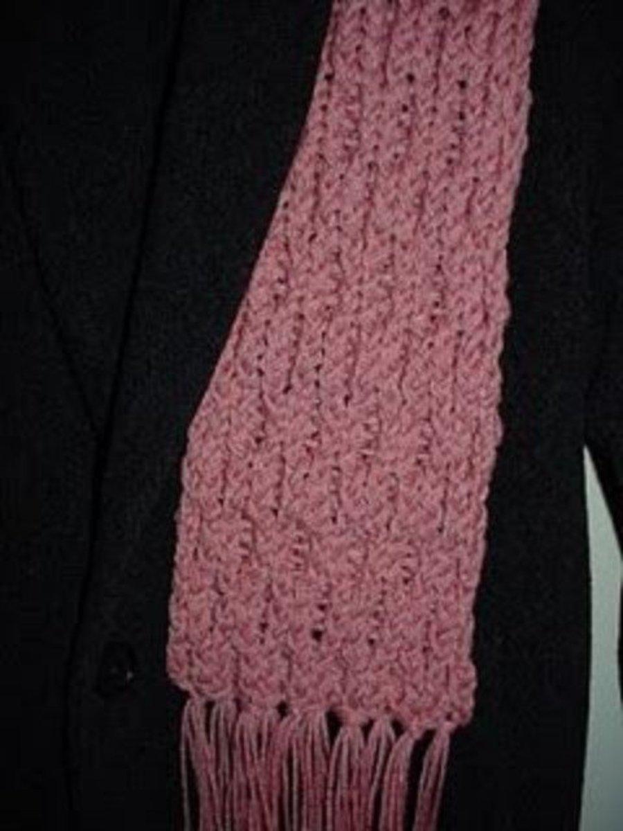 Waffle stitch scarf