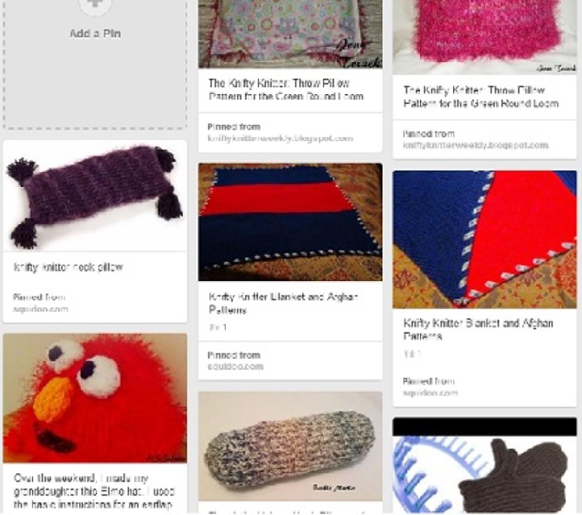 Loom Knit Patter Sampler on Pinterest