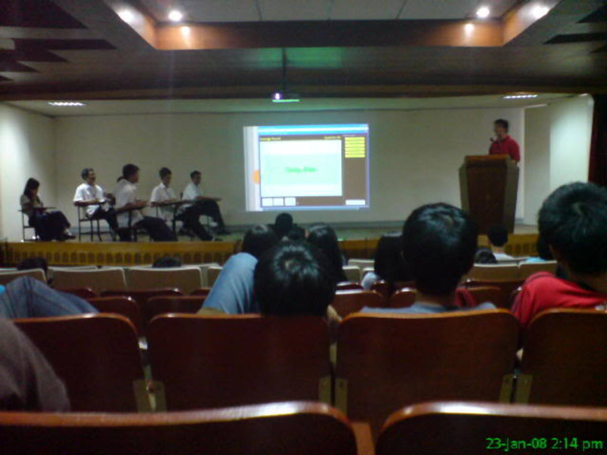 An actual quiz bee competition held in the Philippines
