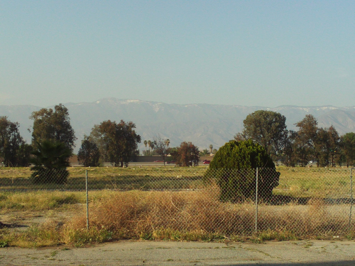 The San Bernardino Mountains with a touch of snow.