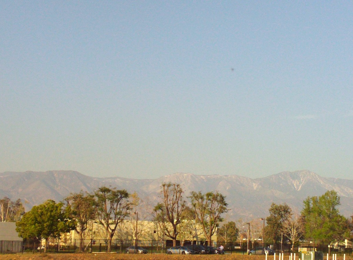 The view of the San Bernardino Mountains.