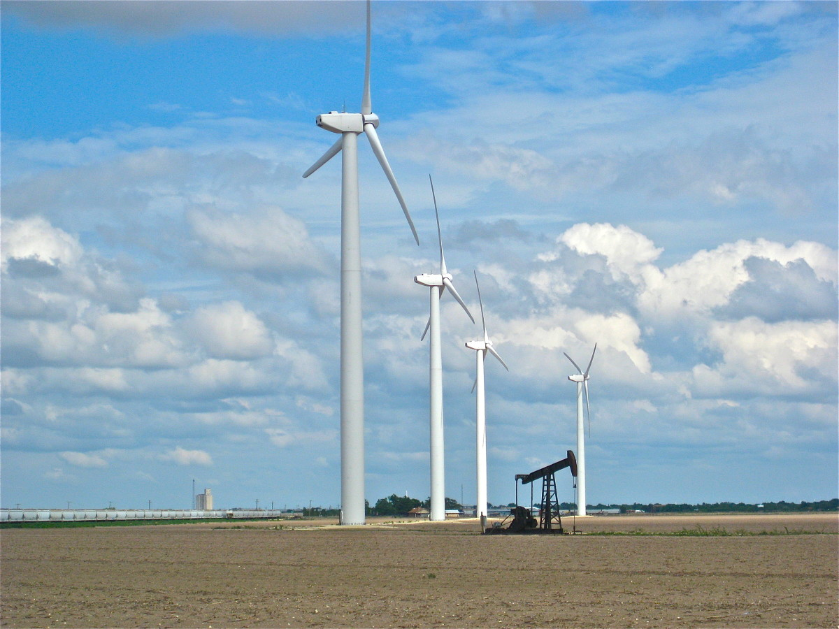 Wind Energy is popular in states like Texas, with wide-open spaces that can be used for wind farms.