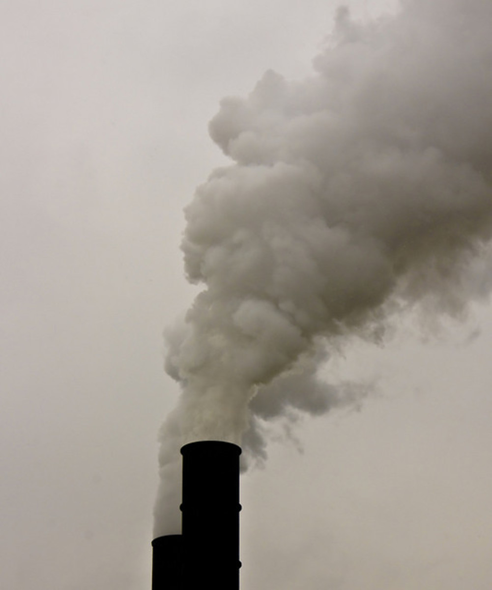 Smokestacks such as this have been a source of pollution for more than a century.