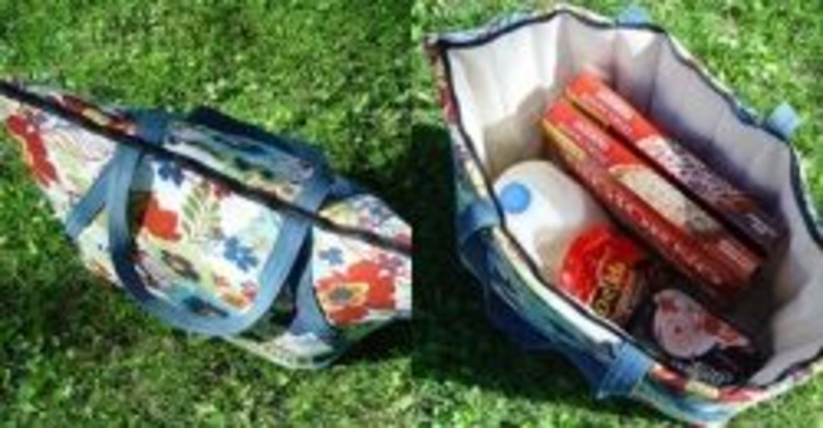 Sewing Projects with Insulated Fabric - Summer Picnic Tote