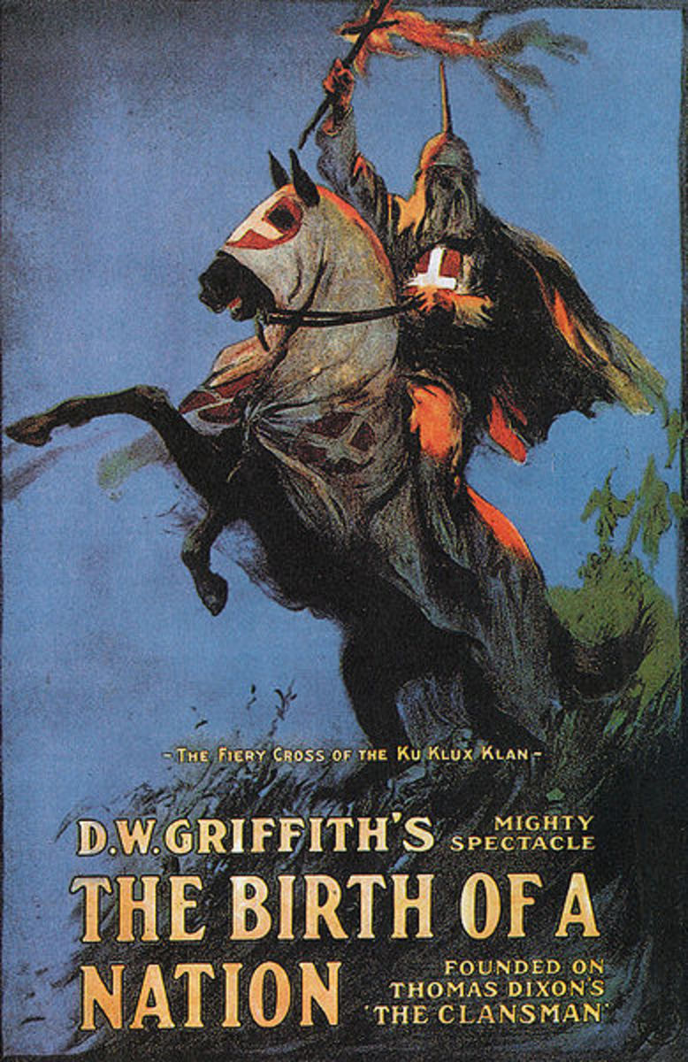 Promotional poster for 1915's racially charged Birth of a Nation.