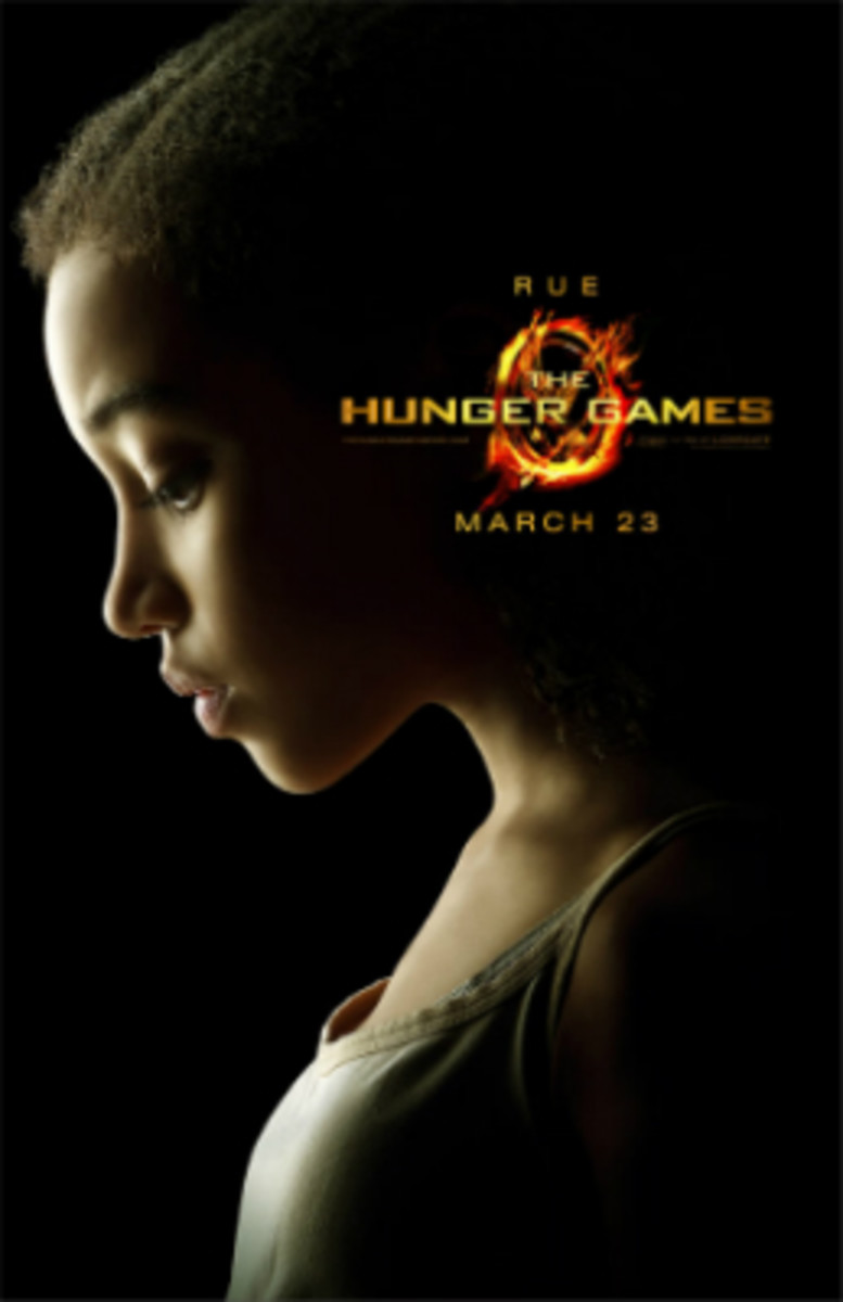 Hunger Games promotional poster featuring Amandla Stenberg as Rue