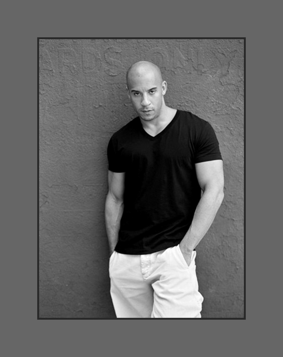 Action star Vin Diesel walks proud with his bold and bald look - 2013 Hairstyles for Men with Balding Thinning Hair Style Cuts Trends