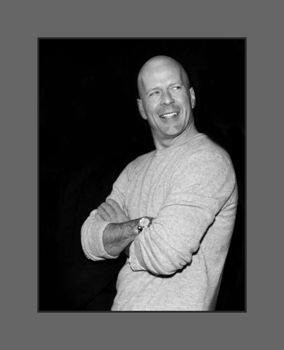 Bruce Willis embraced his baldness by being bold and bald. - 2013 Hairstyles for Men with Balding Thinning Hair Style Cuts Trends