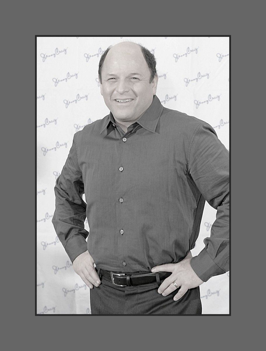 "Jason Alexander is best known for his role as  George Costanza in the very popular tv series ""Seinfeld.""  The au naturel hairystyle is sometimes referred to as the George Costanza look. - 2013 Hairstyles for Men with Balding Thinning Hair Style Cuts"