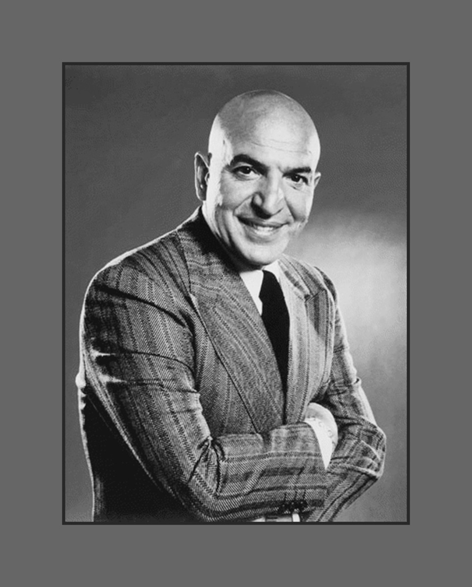 Telly Savalas made bald sexy - Hairstyles for Men with Balding Thinning Hair Style Cuts Trends