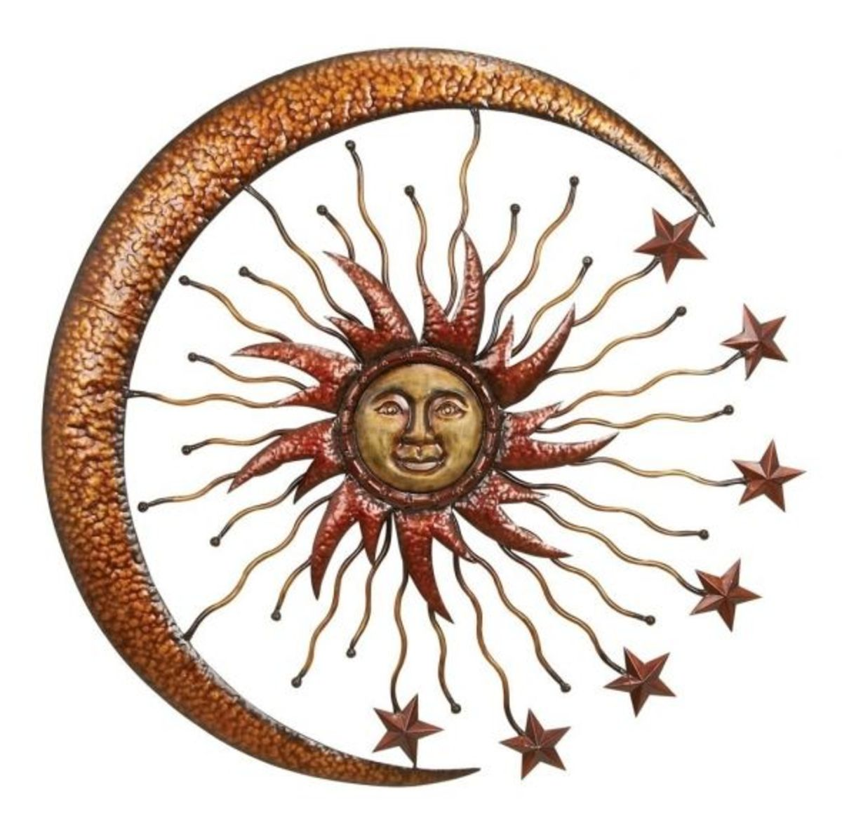 Metal sun for the wall