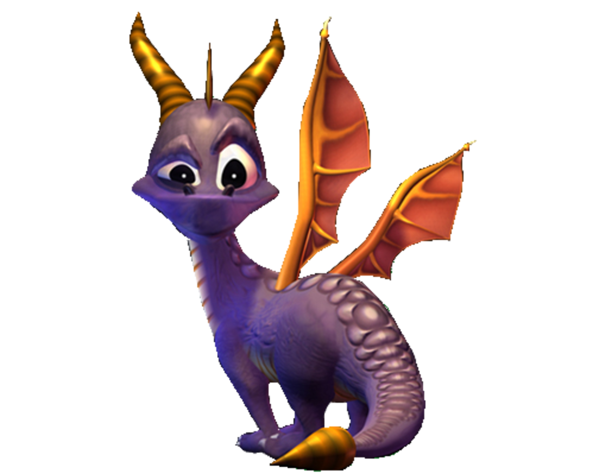 Our hero Spyro the Dragon, in his Spyro 2 model.