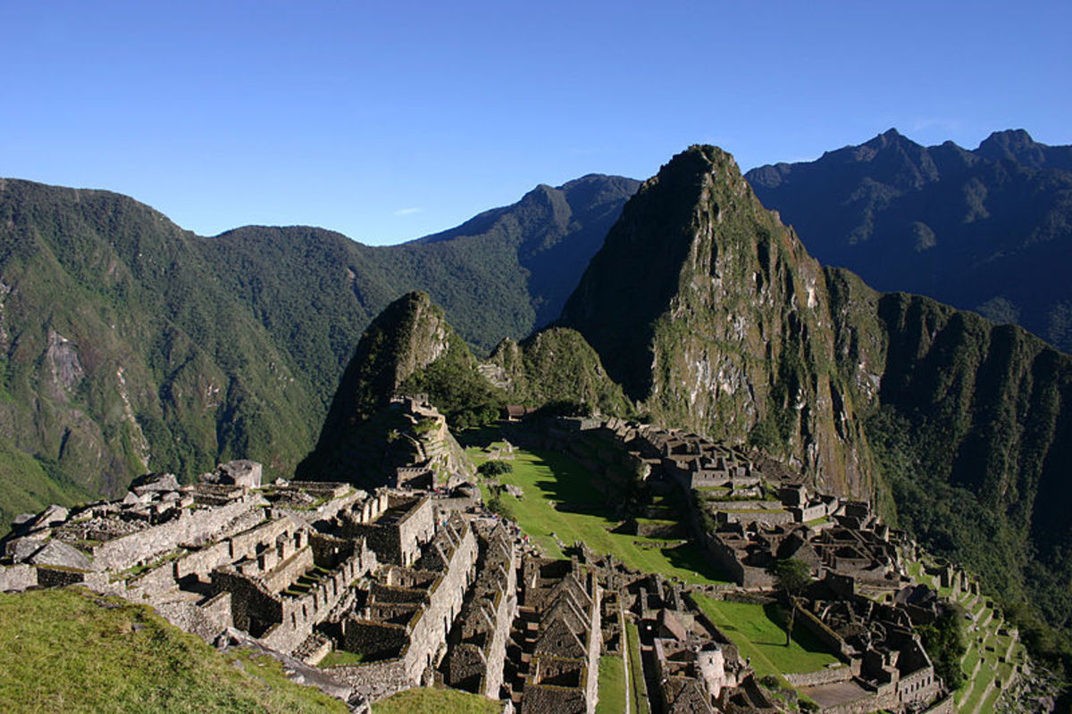 Machu Picchu of which construction was begun during Pachacuti's Inca reign.