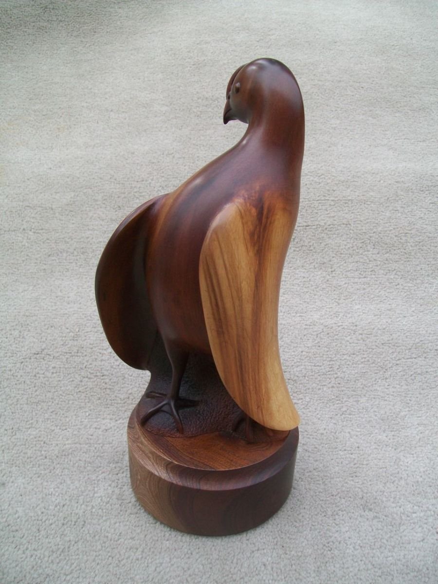 Quail sculpture by Ed Frank