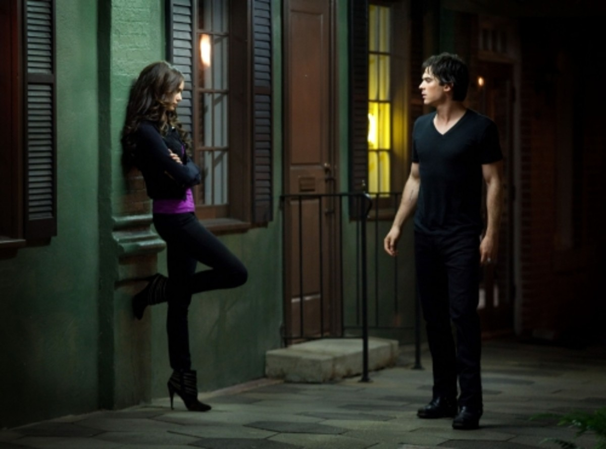 As Katherine Pierce (with Damon)