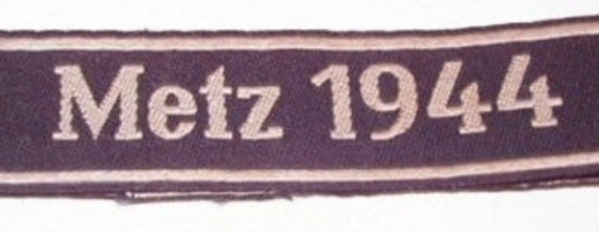 Ärmelband Metz 1944 (Metz Cuff Title)