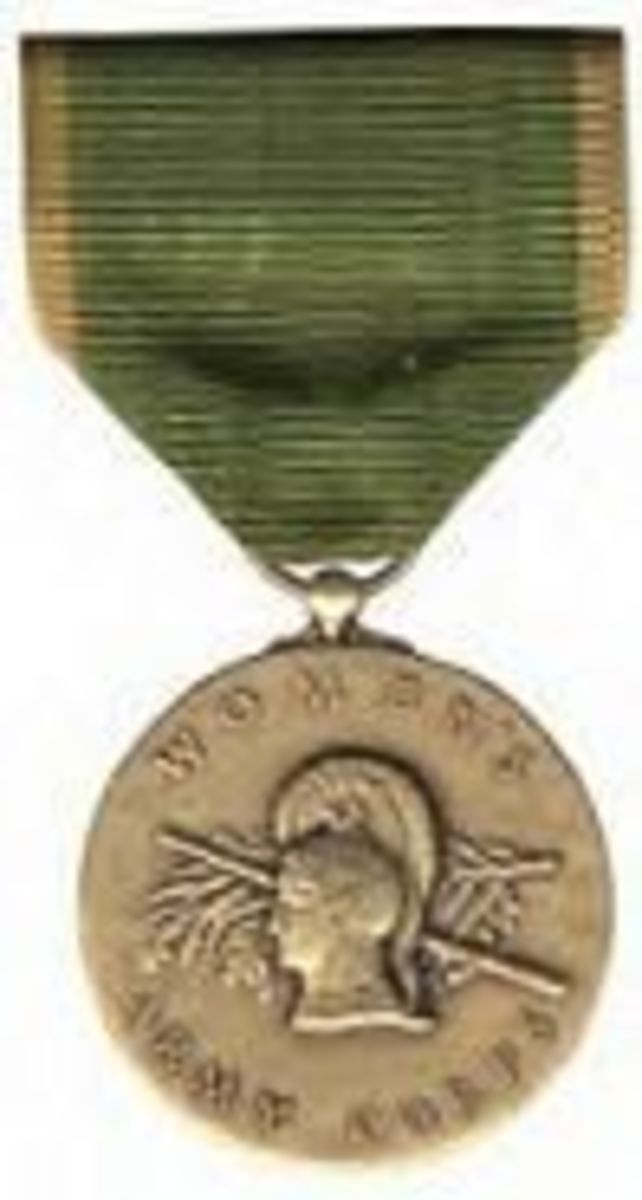 Womans Army Corps Service Medal is awarded for military service in both the Women's Army Auxiliary Corps and the Women's Army Corps