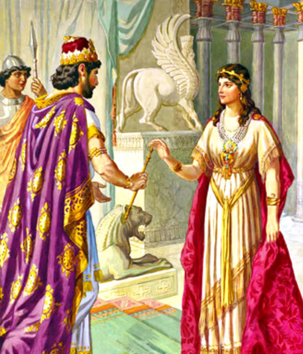 Esther Coming before the king uninvited deserved death, but  he held out the scepter in mercy.