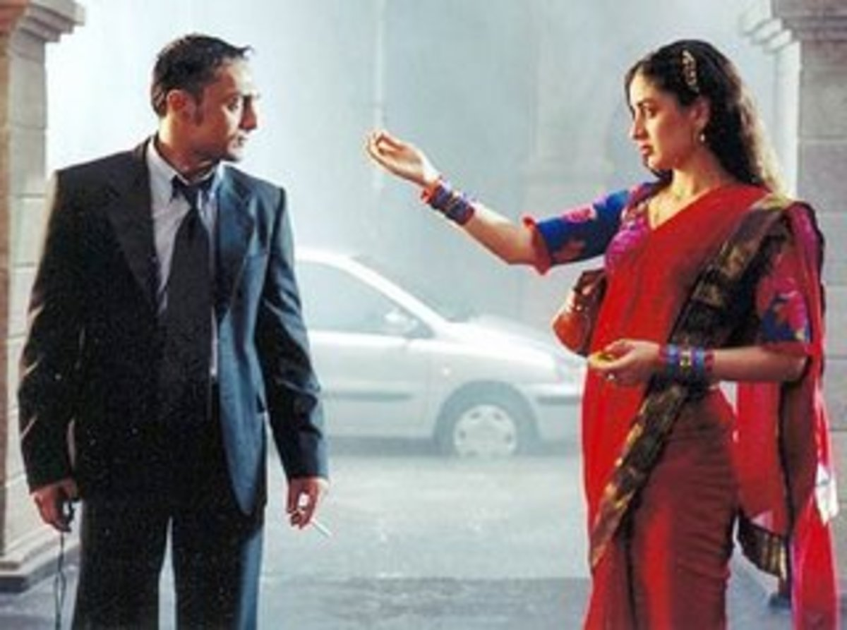 Rahul Bose and Kareena Kapoor in Chameli.
