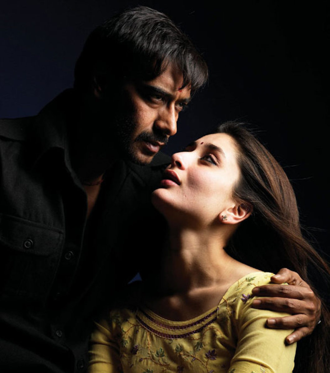 Ajay Devgan and Kareena Kapoor in Omkara.