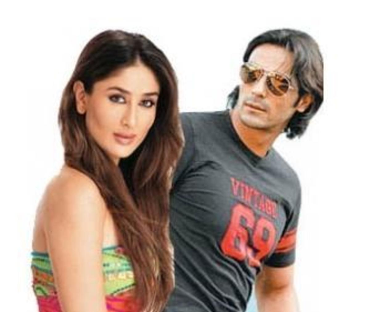 Kareena Kapoor and Arjun Rampal in We are Family.