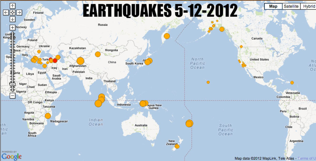Recent earthquakes Worldwide, notice the buildup in Turkey and Iraq and the Mediterranean.