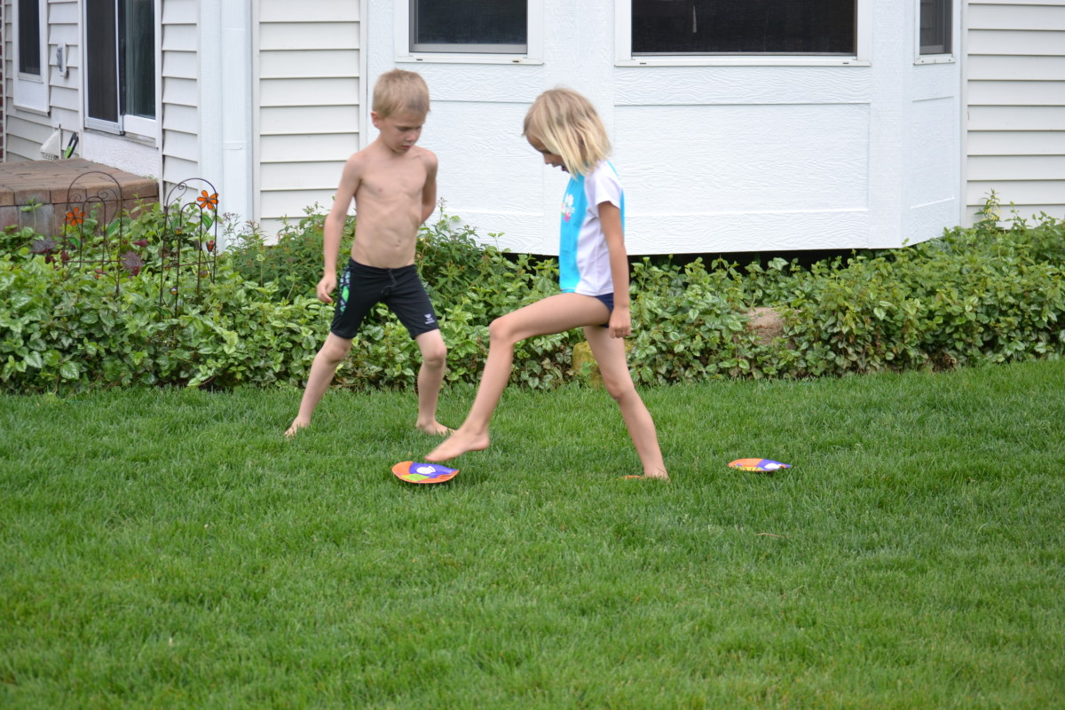 Three Paper Plate Walk Relay Race