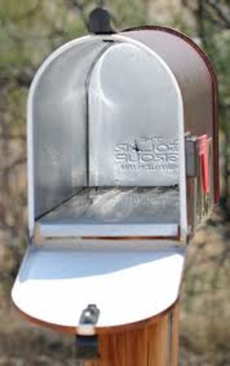 The mail is not the only thing to check when you open the mailbox