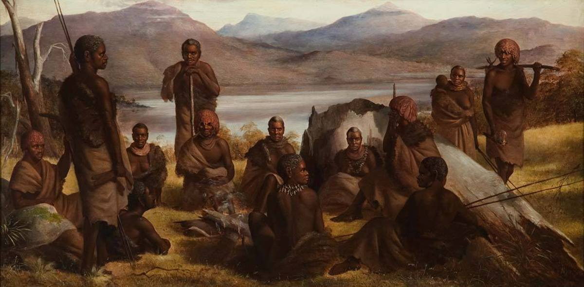 Group of Natives of Tasmania (1859)