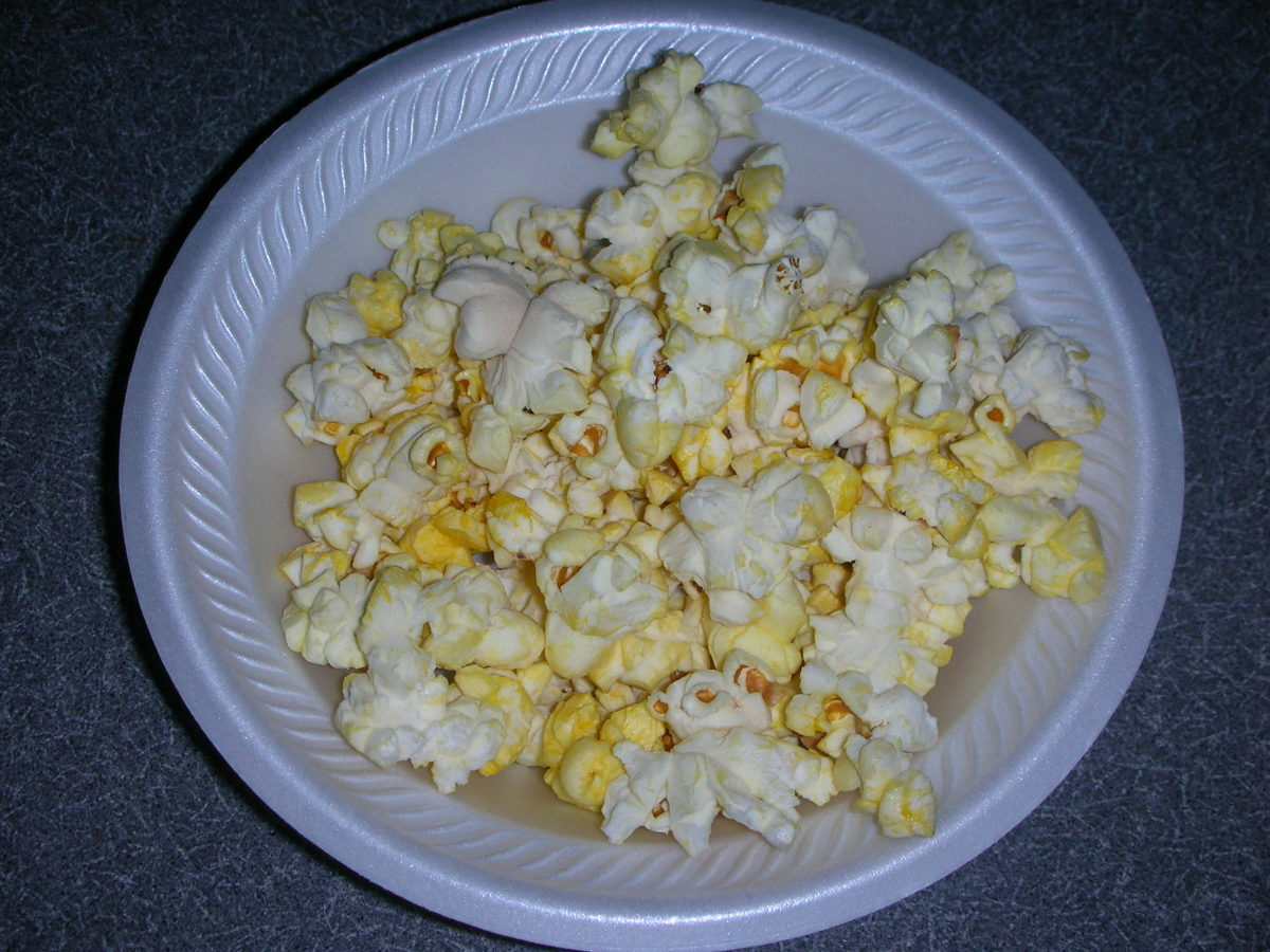 Bowl of Simply Fit Popcorn