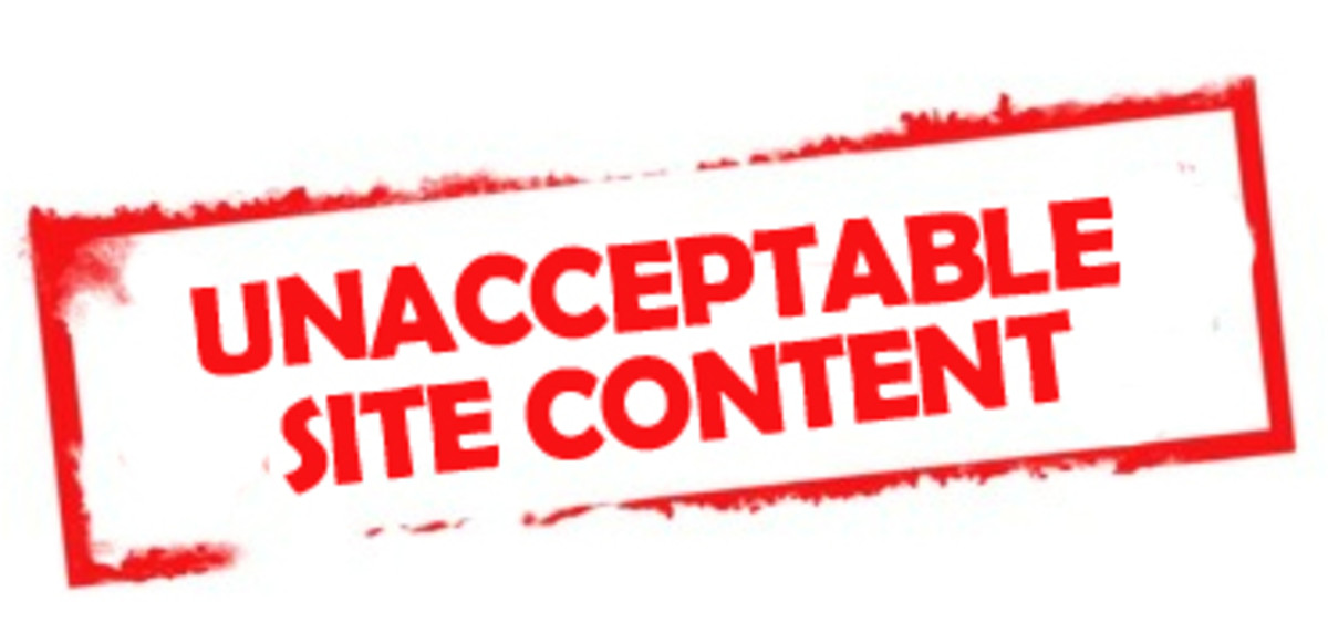 Unacceptable Site Content Image Stamp