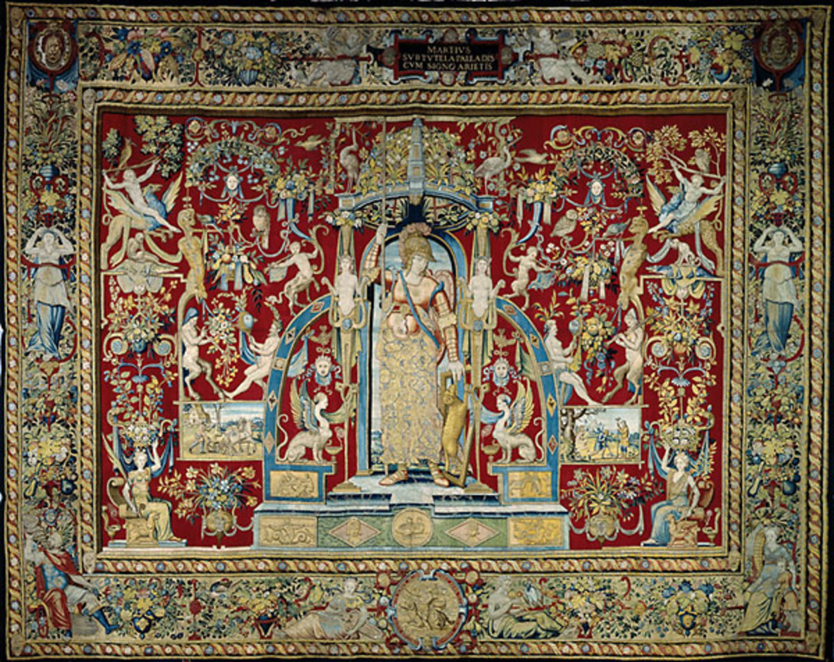 Tapestry with suite of Months, woven by Cornelius de Ronde.  Brussels  mid-16th century.  Today hangs in the Kunsthistorisches Museum in Vienna, Austria
