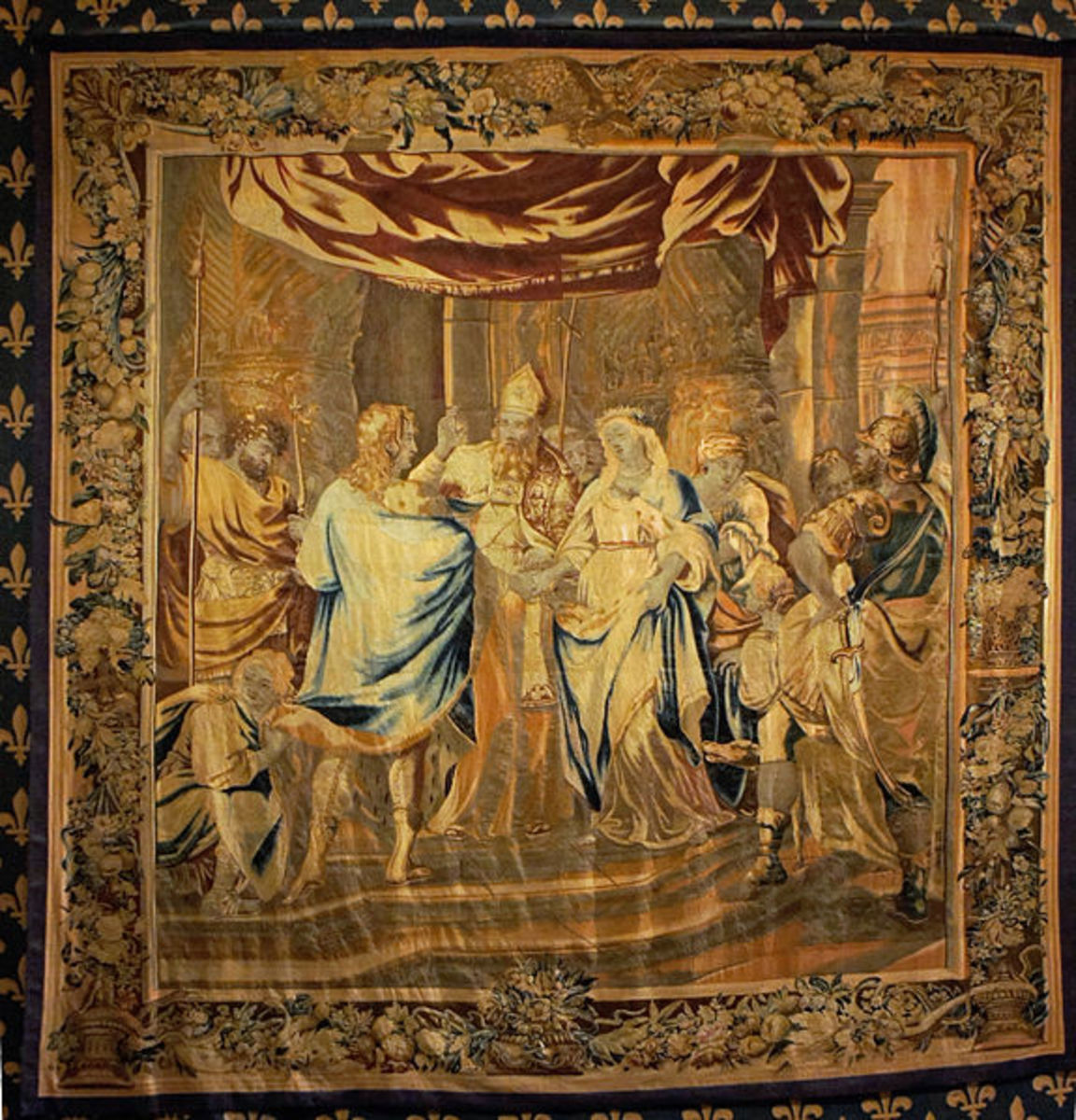 """""""Marriage of Clovis"""" by Jean Le Clere.  Brussels  17th century"""