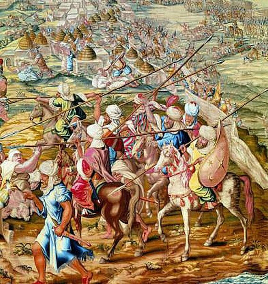 """Conquest of Tunis 1535,"" tapestry woven for the house of Habsburg by the de Pannemaeker family."